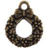 TierraCast® Brass Oxide Wreath Charm, Drop