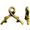 TIERRACAST® Brass Oxide 6mm Vine Briolette Bail