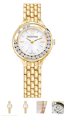 Swarovski Collections Lovely Crystal Watch, Metal Bracelet, Gold Tone PVD