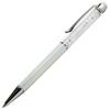 Crystal 2 in 1 Touch Screen Stylus with Pen White