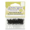 """Artistic Wire 18 Gauge Chain Maille Rings 11/64"""" Black"""