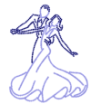 Ballroom Dancers Iron on Transfer