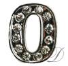 Number Rhinestone Charm