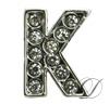 """K"" Rhinestone Charm"