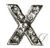 """X"" Rhinestone Charm"