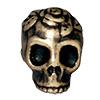 TIERRACAST® Brass Oxide Skull Head Bead