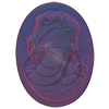 German Cameo Oval Flat Back 40x30mm Crystal Matte Purple Haze