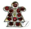 6mm Rhinestoned Charm - Swarovski Crystals