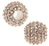 Beadelle® Pave Crystal Bead Galaxy Collection Crystal/Rose Gold 12mm