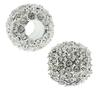 Beadelle® Pave Crystal Bead Galaxy Collection Crystal/Silver 14mm