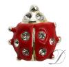 Lady Bug Rhinestone Charm