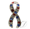 USA Ribbon Rhinestone Charm