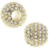 Beadelle® Pave Crystal Bead Galaxy Collection Crystal/Gold 10mm