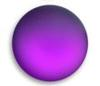 Lunasoft Lucite Cabochons Round 18mm Grape