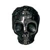 TIERRACAST® Black Skull Head Bead