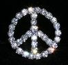 "1"" Peace Sign Buckle Rhinestone Buckle"