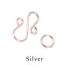 Chain Maille Enameled Copper S Hook, Silver