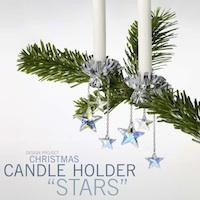 Christmas Candle Holder Stars