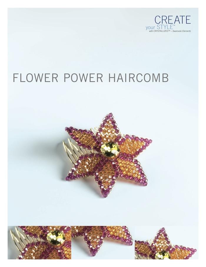 Flower Power comb by SWAROVSKI™
