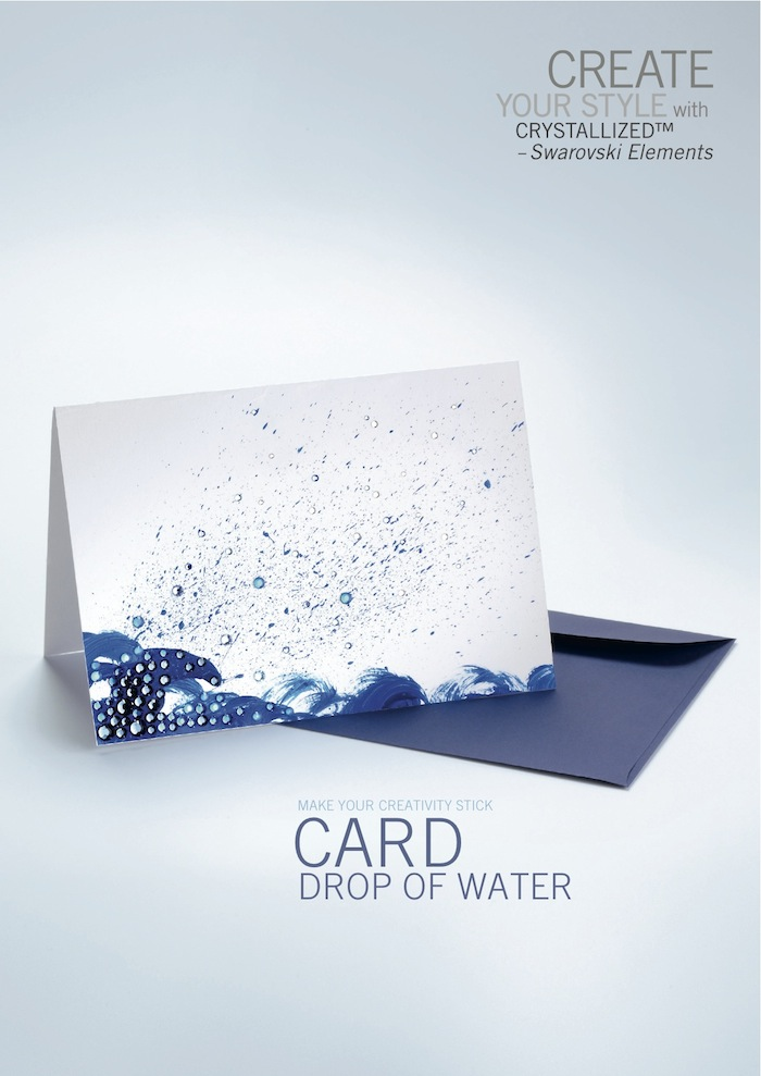 Card Drop Of Water by SWAROVSKI™
